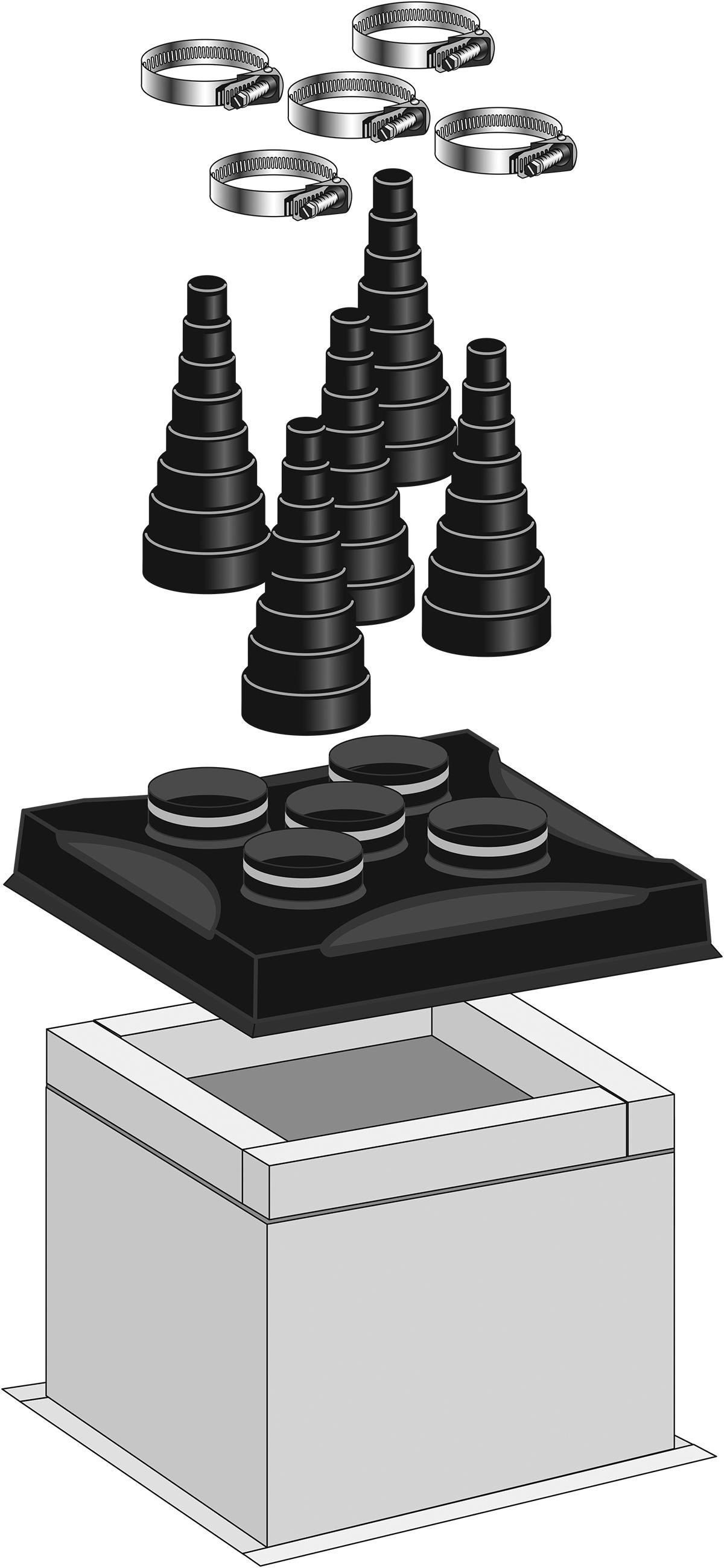 5 Hole Pipe Portal Flashing System Portalsplus