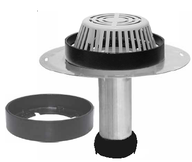 Reroof Drain With Overflow Clamping Ring Portalsplus
