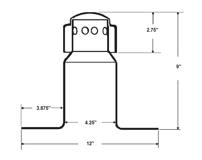 Standard Aluminum Breather Dimensional