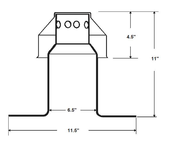Large Aluminum Breather Dimensional