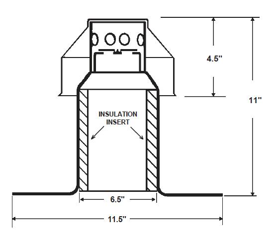 Large Aluminum Vent Dimensional