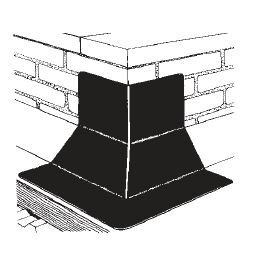 Outside Corner with cant- EPDM or Neoprene