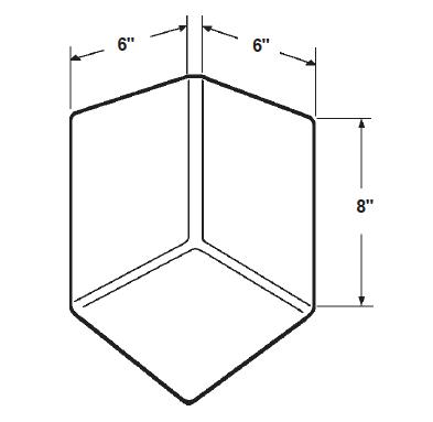 Inside Corner- EPDM Dimensional