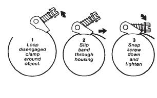 Snaplock Clamp Dimensionals