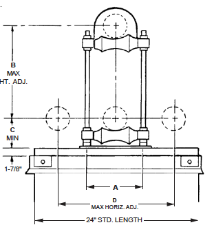 Pipe Mounting Pedestal
