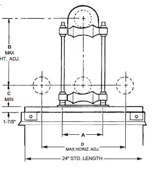 Pipe Mounting Pedestal
