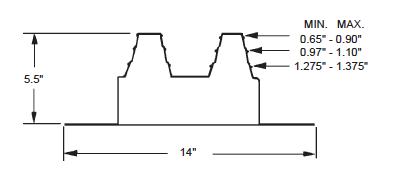 Quadraseal 481R dimensional