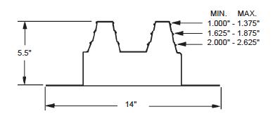 Quadraseal 412R Dimensional