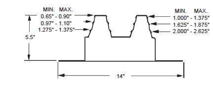 Quadraseal 212R Dimensional