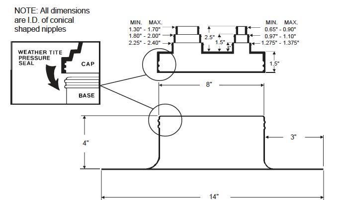 Alumi-Flash Standard with C-212 Cap dimensional