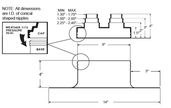 Alumi-Flash Standard with C-412 Cap dimensiona