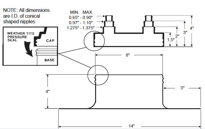 Alumi-Flash Standard with C-481 Cap Dimensional
