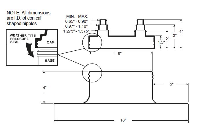 Alumi-Flash Extra Wide (EW) with C-481 Cap Dimensional