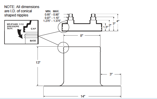 Alumi-Flash Extra Tall (XT) with C- 481 Cap Dimensional